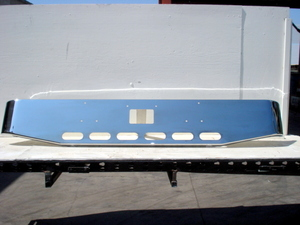 "Peterbilt 379 / 378 / 357 Bumper: ""Tapered Custom"" W/ 6 Oval Light Holes"