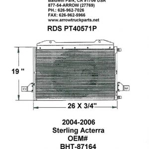 Sterling Acterra '04-06 A/C Condenser