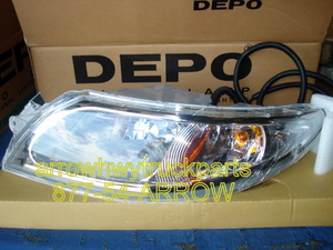 International 4300, 4400, & 8600 Headlight assembly- Left