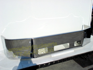 "Peterbilt 387 Bumper - '02-UP Chrome 16"" no fog light holes"