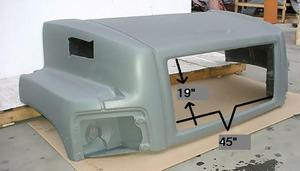 "GMC / Chevrolet C6500 / C7500 / C8500, New Aftermarket ""Single Headlight"" Hood . Fits: '03 & Up"