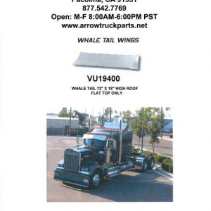 "Turbowing: Wing - Whale Tale For High Roof 72""x18""-0"