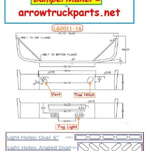 2004 & Newer Volvo VNM Direct Mount (LG) New Aftermarket Bumper.