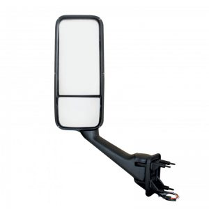 Peterbilt 387, 587 & Kenworth T2000, T700 Mirror Assembly: Black & Chrome-Left