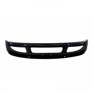 International / Navistar 4200, 4300, & 4400 Bumper: Large Tow Hole Primered Black
