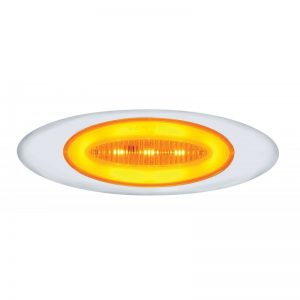 "M1: Amber LED & Clear Lens, 13 LED, ""Phantom"", 6 3/4"" x 2 1/8"" x 3/4"""