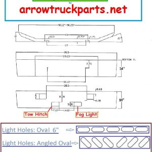 Ford F600 - F850 Bumper: 1980 To 2003